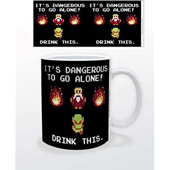 Legend of Zelda Its Dangerous to Go Alone Drink This Retro Vintage Video Game Gamer Ceramic Coffee Mug Tea Cup Fun Novelty Gift 12 oz