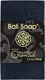 Bali Soap - Bamboo Charcoal Natural Soap Bar, Face or Body Soap Best for All Skin Types, For Women, Men & Teens, Pack of ...