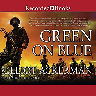 Green on Blue audiobook cover art