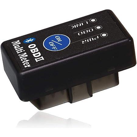 MAXWIN(マックスウィン) OBDII マルチメーター ELM327 OBD アダプター Bluetooth ワイヤレス サブメーター スピードメーター タコメーター ログ再生 地図連動 OBD2 スキャンツール ON/OFFボタン付き Bluetooth4.0 M-OBD-V01A