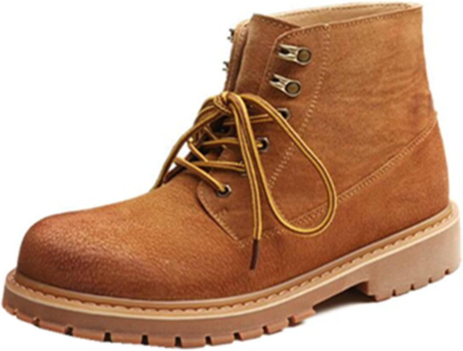 HAPPYSHOP TM Men's Real Leather High Work Boots Winter Desert Boot Chukka Boots