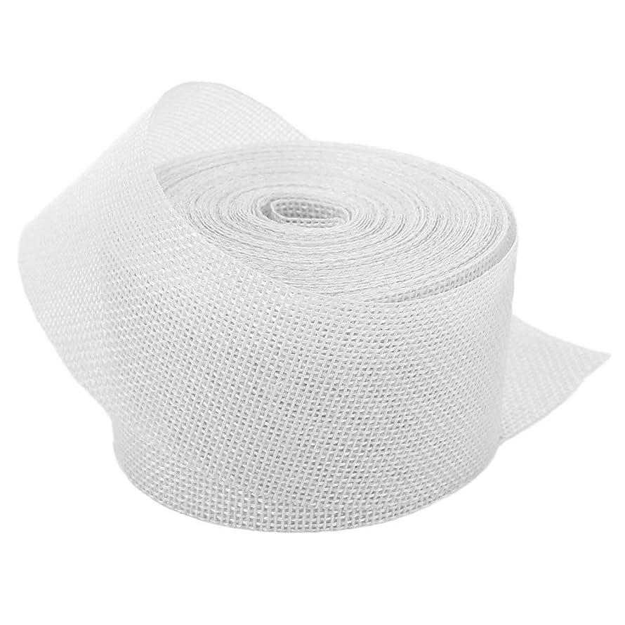 White Linenette Jute Burlap Ribbon Roll 2