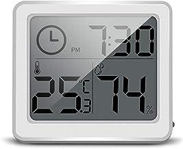 Termómetro Higrómetro Termómetro interior del hogar electrónico de alta precisión termómetro y higrómetro de múltiples funciones de la familia habitación del bebé mojado y termómetro seco Digital Term