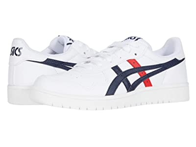 ASICS Kids Japan S GS (Big Kid) (White/Classic Red) Boys Shoes