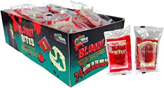 Bloody Bites Fangs With Candy Blood Pack of 24