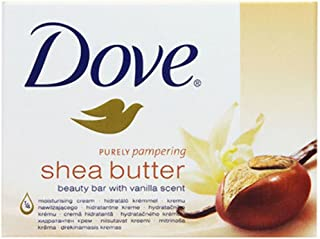 DOVE Purely Pampering Shea Butter Beauty Bar With Vanilla Scent Soap Set Of 3 (100*3 g)