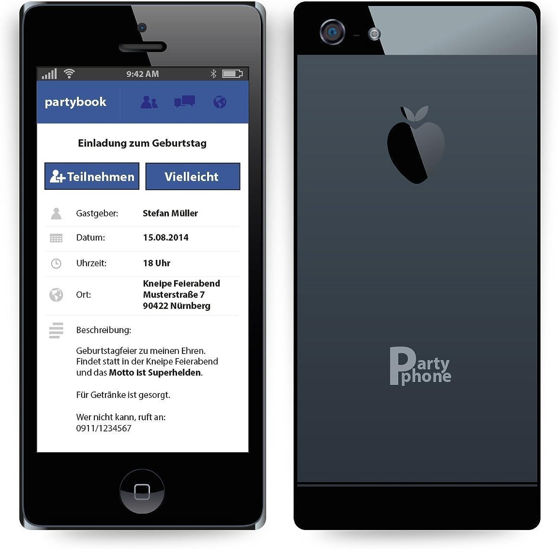 Einladungskarten zum Geburtstag (100 Stück) als als als Smartphone ähnlich iPhone Handy B00HT97EP4  | Verkaufspreis  f3b08b