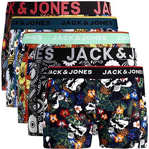 JACK & JONES Trunks 4er Pack Boxershorts Boxer Short Unterhose S M L XL XXL NEU (XXL, 12) (XL, 5er Pack Bunt 14 ohne Wäschesack)