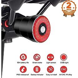 EBUYFIRE Luz Trasera de Bicicleta Inteligente Recargable USB