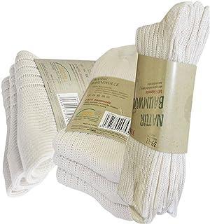 Gesundheitsstrumpf, 6 pares de calcetines naturales, 100 % algodón, sin costuras, resistentes a altas temperaturas, extragruesos