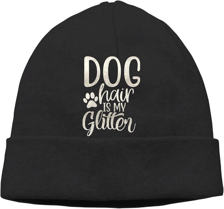 Dog Hair Regular dealer is My Rapid rise Glitter1 Slogan Cap Hats Beanie Warm Unisex Vinta