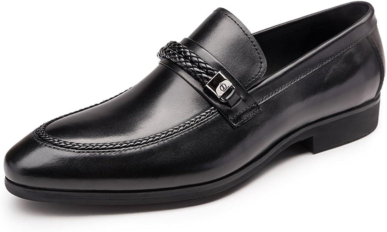 FARYM Men's Elegant Slip On Leather Lined Dress Loafers Oxford shoes
