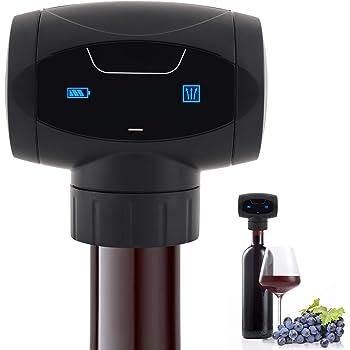 Brynnl, tappo elettrico per bottiglia di vino, sottovuoto, riutilizzabile, mantiene il vino fresco fino a 7 giorni, ideale come regalo per gli amanti del vino