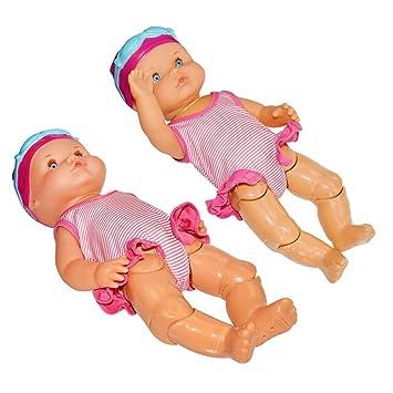 QHJ Lebensecht Baby Doll Puppen Wasserspa/ß Swimmingpool f/ür Wasserdichtes Elektrisches Puppen Bestes Geschenk Spielzeug f/ür Kinder 33 cm 33cm