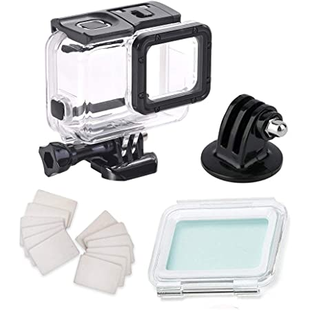 Amazon Com Waterproof Housing Case For Gopro Hero7 Silver Hero7 White With Anti Fog Inserts Accessories Suitable For Underwater Diving Photography 45m Protective Shell Camera Photo