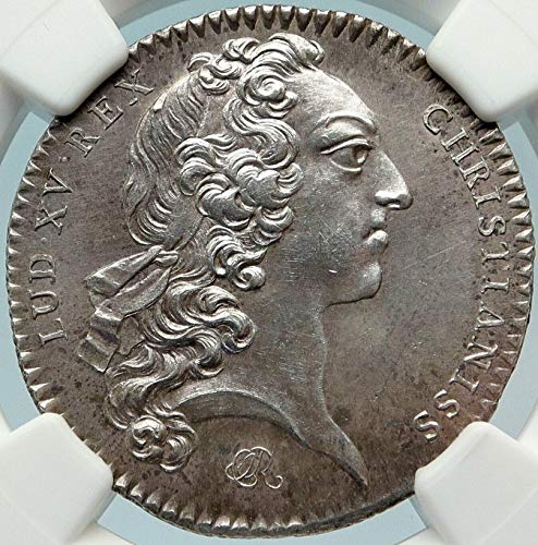 1723 unknown 1723 FRANCE King LOUIS XV Brittany Rennes Antique coin Good NGC