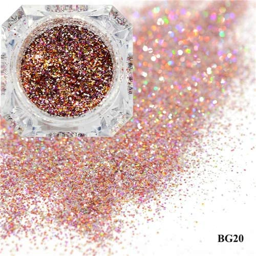 Don't miss the campaign Gabcus 1Box Dazzling Platinum Nail Powder Sparkly Large-scale sale Glitter Laser