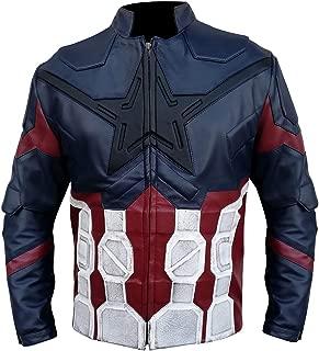 Steve Rogers Infinity War Avengers Captain America Jacket - Blue Distressed