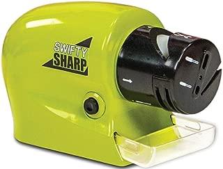 Swifty Sharp Cordless, Motorized Knife Blade Sharpener (Green)
