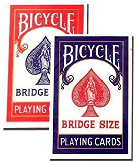 Bicycle Bridge Standard Index Playing Cards – 1 Red Deck and 1 Blue Deck
