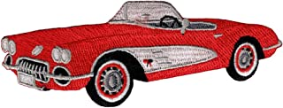 Red Convertible Car Patch Embroidered Iron-On Automobile