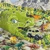 Dinosaur Toys Track Cars for Boys - 240 pcs Flexible Track Playset Toy Cars for Girls Dinosaur World Road Race #2