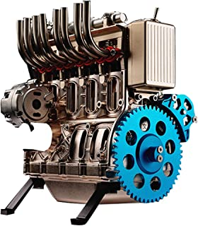 موتور استرلینگ FenglinTech ، اسباب بازی های مونتاژ موتور مجهز به موتور کامل سیلندر فلزی V4 4 برای بزرگسالان