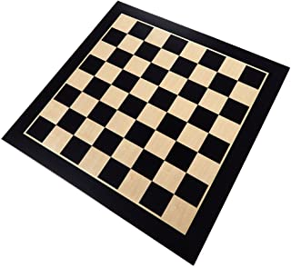 Klamath Chess Board with Inlaid Maple and Beech Wood, Extra Large 19 x 19 Inch, Board Only