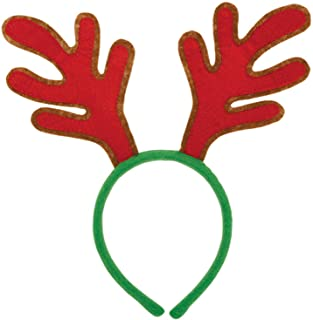 Amscan Felt Headband Antler, 30 cm, Red/Green