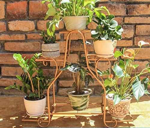 William 337 Stand de fleur en fer forgé fleur stand multicouche intérieur et extérieur salon balcon multifonctionnel plante petit (Couleur : C)