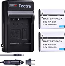 Tectra 2 Pack Sony NP-BK1 Replacement Battery and Digital Charger Set for Sony Bloggie MHS-CM5, MHS-PM5, Cyber-shot DSC-S750, DSC-S780, DSC-S950, DSC-S980, DSC-W180, DSC-W190, DSC-W370, Webbie MHS-PM1