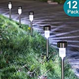 Easy To Install: Remove the isolator tab under the cap and push the stake into the soil. The solar path lights automatically turn on at night and turn off at dawn! Energy Saving: No electricity needed; absorb sunlight to charge. The LED lights charge...
