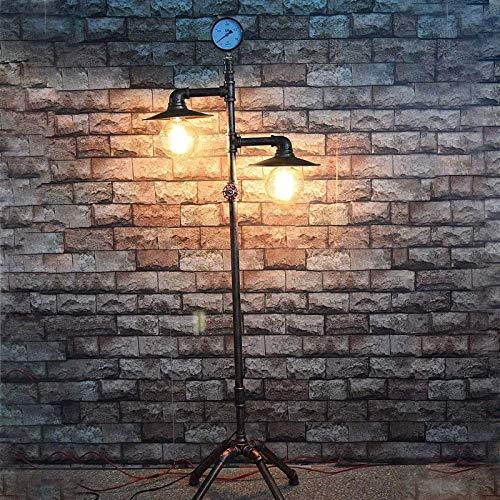 AZYJBF Industrial Floor Lamp Vintage Standing lamp Retro Floor lamp Made of Iron Vintage Metal Floor lamp for Bar Cafe Restaurant Living Room Bedroom Office, E27 Socket max 40W