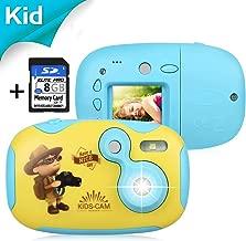 """AGM Camara de Fotos para Niños, Cámara de Video 1.44"""" HD Color Pantalla Cámara Digital Niños con Tarjeta de Memoria de 8GB + DIY Funda Carcasa para Chicas y Chicos (Azul)"""