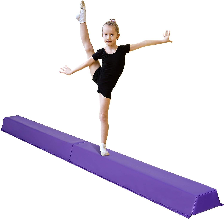 HomGarden Gymnastics Training Balance San Antonio Mall Beam Foot Folding 1 year warranty 6 Long F