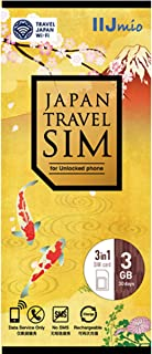 IIJ Japan Travel SIM for unlocked phone 3GB(nano/micro/標準SIMマルチ対応) IM-B257