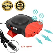 Portable Car Heater,Lord Eagle Car Defroster 30 Seconds Fast Heating Quickly 12V 150W Auto Heater Cooling Fan (Red)