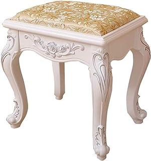 Skrivbordstol Dressing pall tyg massivt trä sminkbord stol sovrum sko omklädningspall (färg: C)