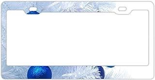 KSLIDS Holiday Christmas Snowman License Plate Frames Alumina Car Licence Plate Covers 2 Holes