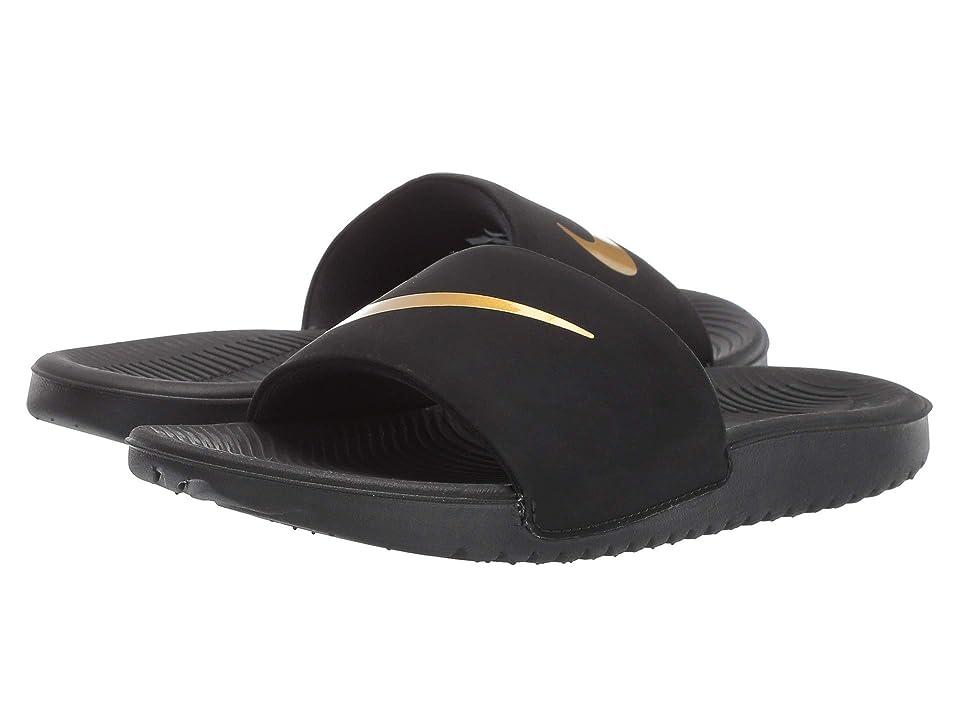 Nike Kids Kawa Slide (Little Kid/Big Kid) (Black/Metallic Gold) Boys Shoes