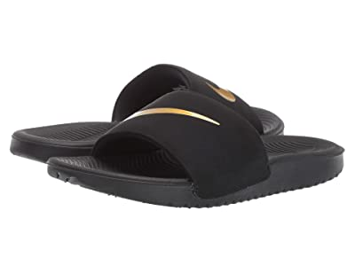 Nike Kids Kawa Slide (Little Kid/Big Kid) (Black/Metallic Gold) Boys Shoes