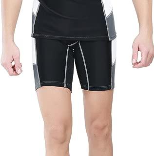 LINGMIN Men's Short Sleeve Rash Guard Swim Shirt Compression UV Protection Swimwear