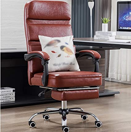 Lyw Home Office Chair Ergonomic Chairs Height Adjustable Durable And Sturdy With Footrest And Thick Padding 360 Degree Rotation Amazon De Kuche Haushalt
