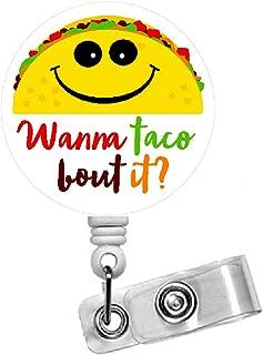 Wanna Taco Bout It Badge Reel - Id Badge Reel - Speech Language Pathologist Badge - Medical Badge Clip - SLP Gift - School Staff Badge - Speech Therapist Badge (Belt Slide Clip)