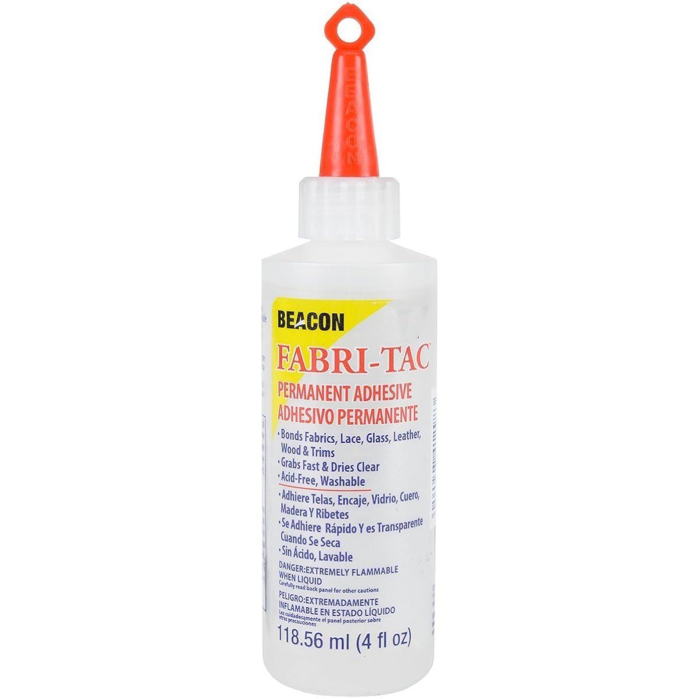 Beacon Fabri-Tac Permanent Adhesive, 4 Ounce THE GLUE GUN IN A BOTTLE !