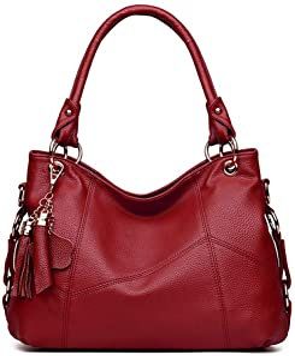 Women's Tote Shoulder Bag Handbag Purses Satchel Shoulder Bags Handle Bag Leather tassel
