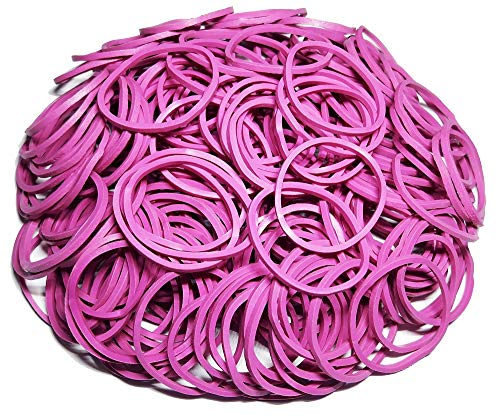 200Pcs 1 25mm Small Rubber Bands Multicolor Bulk Elastic Wide Money Colorful Rubber Bands Ring Stationery Holder Sturdy Strong Stretchable Band Loop School Home Bank Office Supplies (Pink)