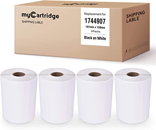 new arrival myCartridge 4-Rolls Compatible with DYMO 1744907 high quality Large Shipping Labels 4 2021 x 6 Inch (104 mm x 159 mm) 220 Labels Per Roll for LabelWriter 4XL Printer outlet online sale