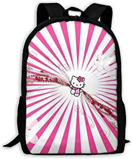 Custom Beautiful Hello Kitty Casual Backpack School Bag Travel Daypack Gift