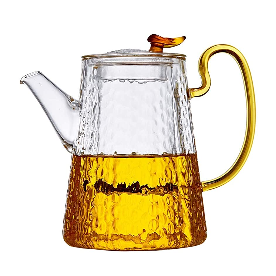 Teapots Coffee Servers Teapot Filter Anti-hot Household Glass Teapot High Temperature Can Withstand The Instantaneous Temperature Difference Teapot Ice Coffee Pot (Color : Clear, Size : 800ml)